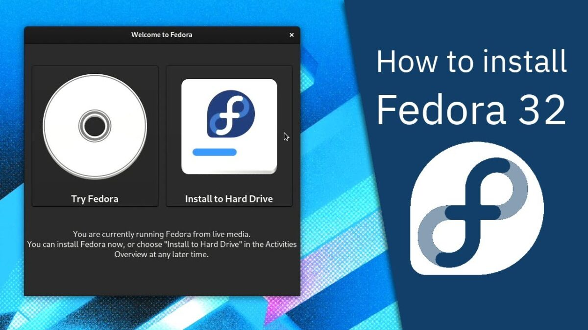 How to install Fedora 32 - Server99s